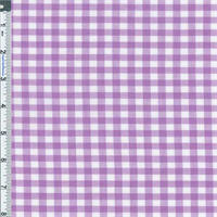 *2 7/8 YD PC--Purple Gingham Check Shirting