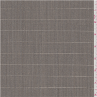 *2 YD PC--Taupe Brown Plaid Suiting
