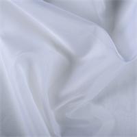 *1 YD PC--White Silk Organza