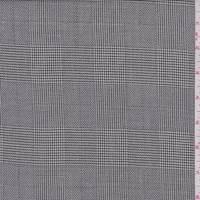 *3 YD PC--Ivory/Black Glen Plaid Wool Blend Suiting