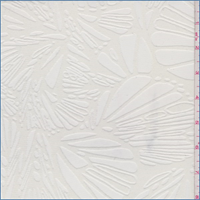 *1 1/8 YD PC--Off White Butterfly Wing Burnout Mesh