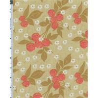 *1 YD PC--Beige Nel Whatmore Eden Cherry Print Cotton