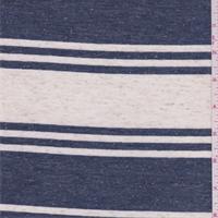 *1 YD PC--Ivory/Denim Stripe Jersey Knit