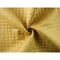 *1 YD PC--Mustard Yellow Quilted Grid Home Decorating Fabric
