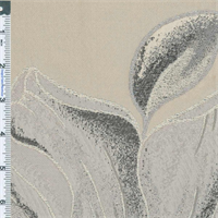 *1 YD PC--Silver/Pewter Gray Michaela Floral Upholstery Fabric