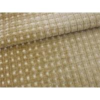 *15 YD PC--Merrimac Golden Beige Gridlock Chenille Upholstery Fabric
