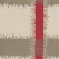 *10 YD PC--Red/Beige/Ivory Ikat Plaid Home Decorating Fabric