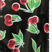 *1 YD PC--Black Cherry Oilcloth