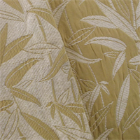 *3 1/2  YD PC--Ivory/Beige Chenille Bamboo Jacquard Home Decorating Fabric