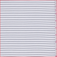 *6 YD PC--White/Black Stripe Silk Faille