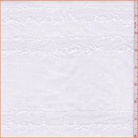 *4 YD PC--Off White Fringed Stripe Cotton Shirting