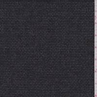 Smoke Black/Grey Wool Flannel Suiting