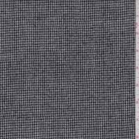 Black/White Mini Houndtooth Wool Jacketing