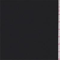 *1 3/4 YD PC--Jet Black Wool Blend Suiting