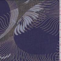 *7/8 YD PC--Purple/Taupe/Green Sunburst Gauze