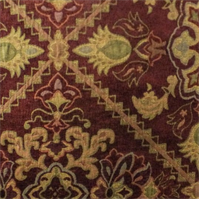 Burgundy/Multi Traditional Chenille Tapestry Decorating Fabric