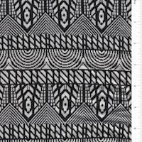 White/Black Jacquard Knit
