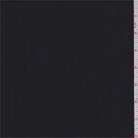 *1 3/4 YD PC--Black Heather Wool Suiting