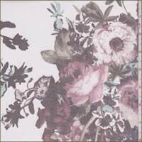 White/Spa Blue Floral Silk Chiffon