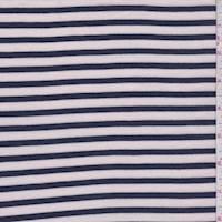 Pale Pink/Navy Stripe T-Shirt Knit