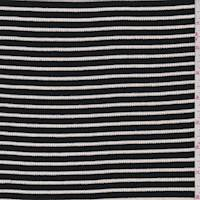 White/Black Stripe Rib Knit