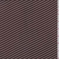 Chocolate Pinstripe Lawn