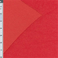 *1 1/2 YD PC--Red French Terry Jersey Knit
