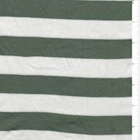 White/Green Stripe Mini Rib Knit