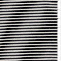 White/Black Parisian Stripe Jersey Knit