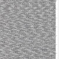 White/Black Slubbed Sweater Knit