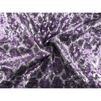 *2 3/4 YD PC--Grape Purple/Silver Diamond Sequin Mesh