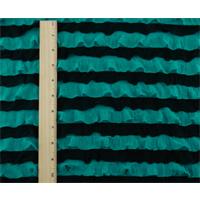 *1 YD PC--Ocean Teal/Black Ruffle Knit