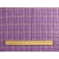 *2 1/2 YD PC--Purple Wool Blend Plaid Boucle Jacketing