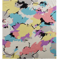 *7/8 YD PC--Multi Abstract Paint Print Jersey Knit