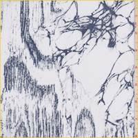 White/Slate Blue Marble Silk Chiffon