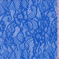 *5 YD PC--Ocean Blue Floral Lace