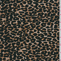*3 1/2 YD PC--Beige/Black Cheetah Print Jersey Knit