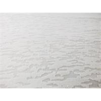*1 7/8 YD PC--White Cotton Blend Textured Burnout Jersey