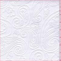 *1/2 YD PC--Shabby Chic White Paisley Matelasse
