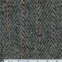 *3 YD PC--Black Novelty Stripe Suiting