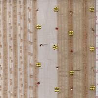 Brown/Tan Embroidered Organza