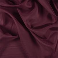 *1 3/8 YD PC--Dark Red Silk Crepe de Chine