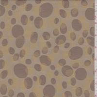 Cocoa/Brass/Brown Dot Jacquard Taffeta