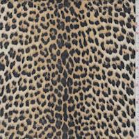 Golden Tan Cheetah Knit Pique