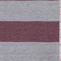Heather Red/Grey Stripe Jersey Sweater Knit