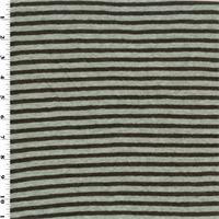 *2 YD PC--Brown/Grey Stripped Wool Jersey