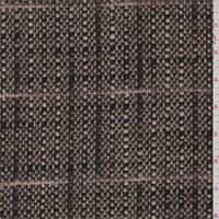 *3/4 YD PC--Walnut/Putty Plaid Boucle Wool Jacketing