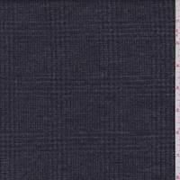 Charcoal/Black Glen Plaid Wool Double Knit
