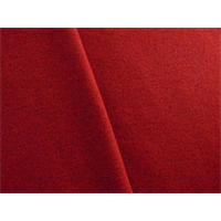 *2 7/8 YD PC--Red Boiled Wool Blend Coating