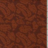 *7/8 YD PC--Brick/Orange Paisley Jacquard Sweater Knit